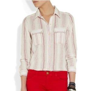 ISABEL MARANT Layne Cotton Gauze Shirt A12-12